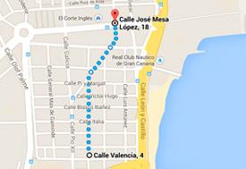 Mapa De Las Palmas De Gran Canaria Calles.Hotel Las Palmas Urban Center Tu Hotel Urbano En Pleno